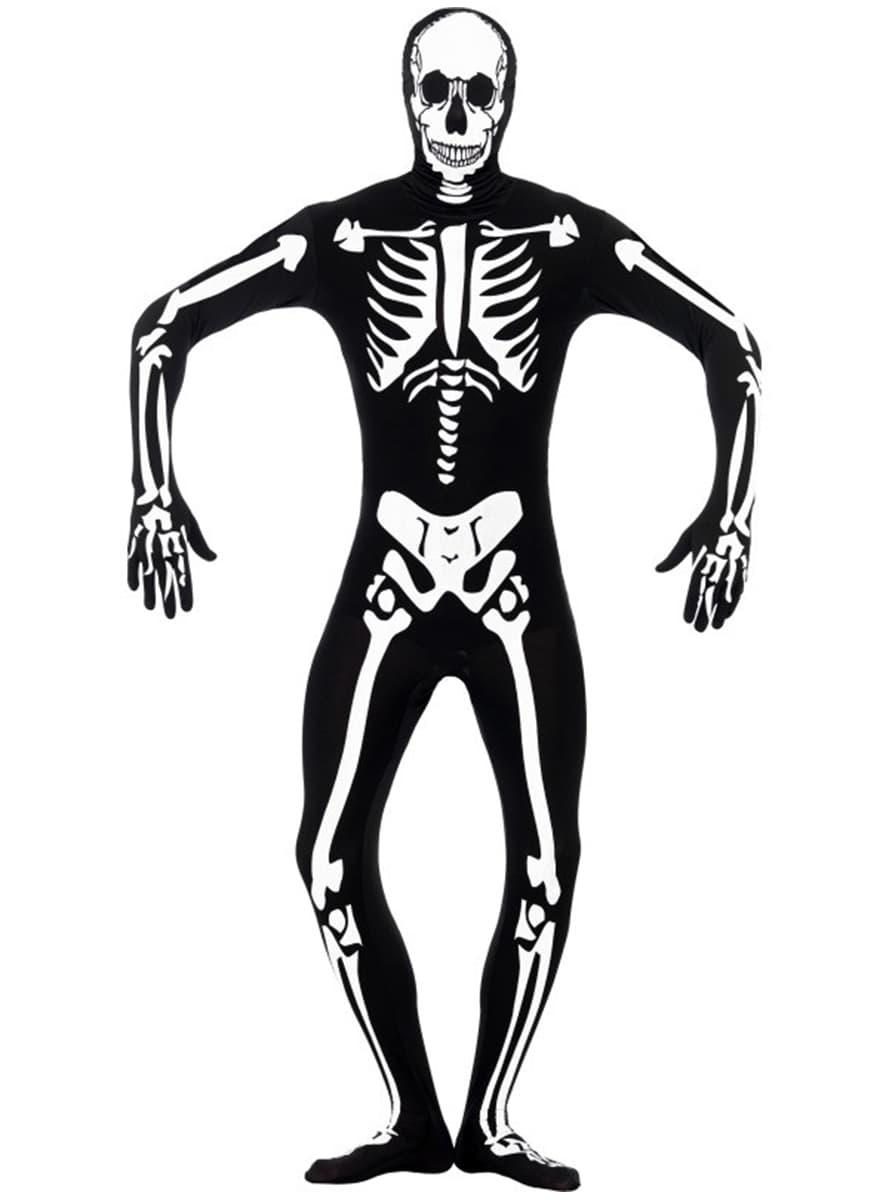 Disfraz de esqueleto brillante en la oscuridad segunda piel | Funidelia