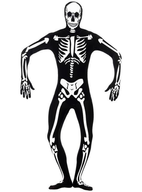 Pimeässä hohtava Second Skin -luurankoasu aikuisille