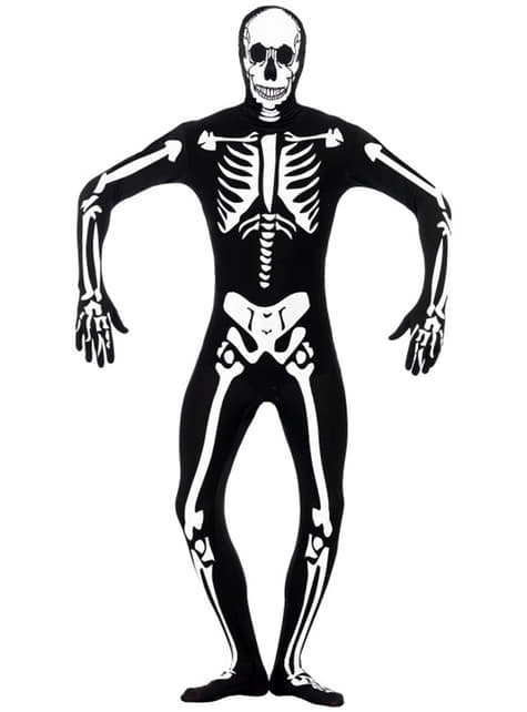 Светят в тъмния втори костюм на скелета на кожата