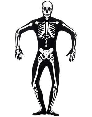 Kostium świecący w ciemności szkielet druga skóra