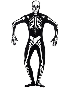 Lichtgevend skelettenkostuum