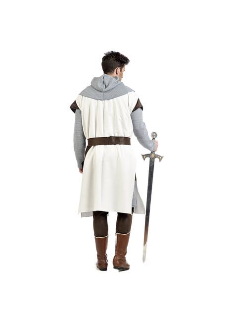 Disfraz de caballero medieval templario para hombre - hombre