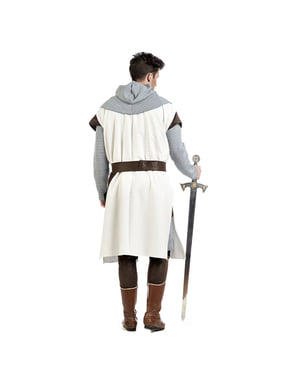 Medieval templar knight costume for men