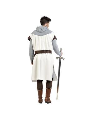 Middelalder tempelridder kostume til mænd