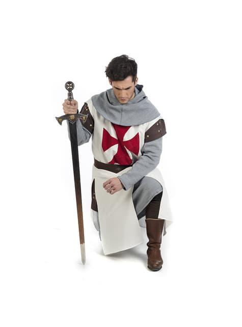 Disfraz de caballero medieval templario para hombre - original