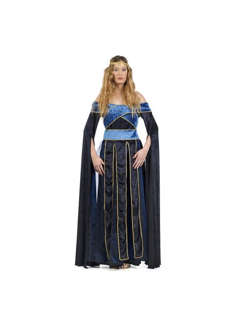 Middeleeuwse Mary kostuum voor vrouw