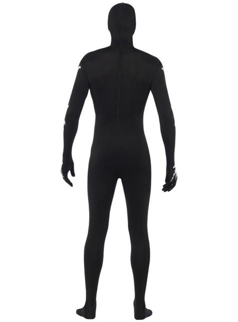 Příléhavý oblek pro dospělé svítící ve tmě kostra