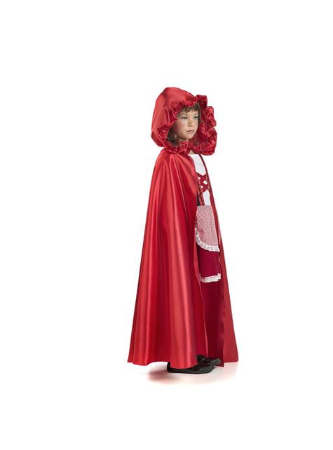 Capa de Caperucita para niña - para tu disfraz