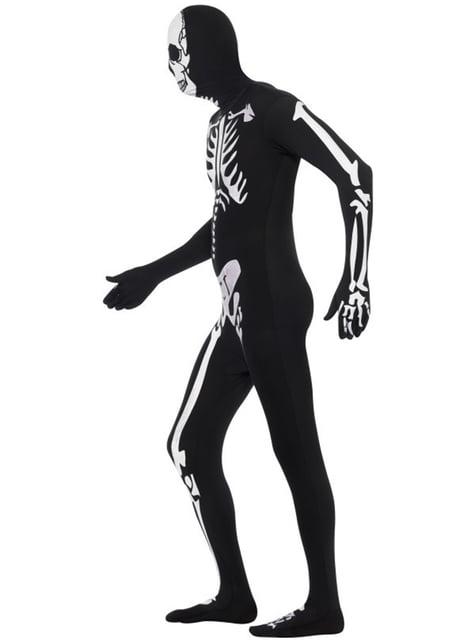 Ganzkörperanzug Skelett mit Leuteffekt