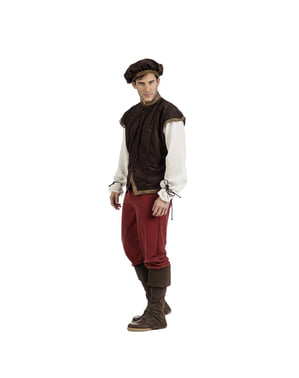 पुरुषों के लिए मध्ययुगीन भोली डिएगो पोशाक