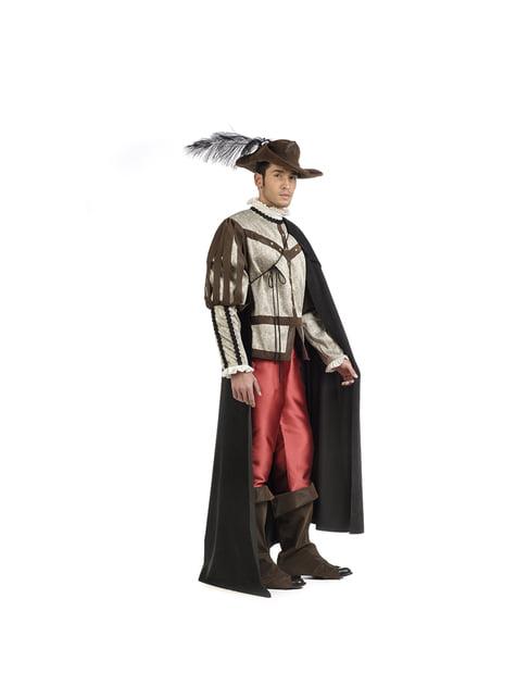 Disfraz de mosquetero premium para hombre