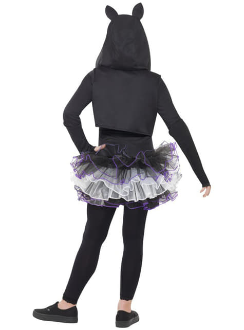 Kätzchen Skelett Kostüm für Mädchen