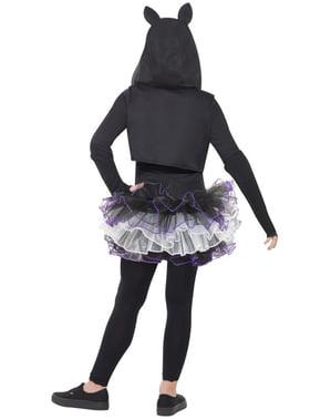 Costum de schelet de pisicuță pentru fată