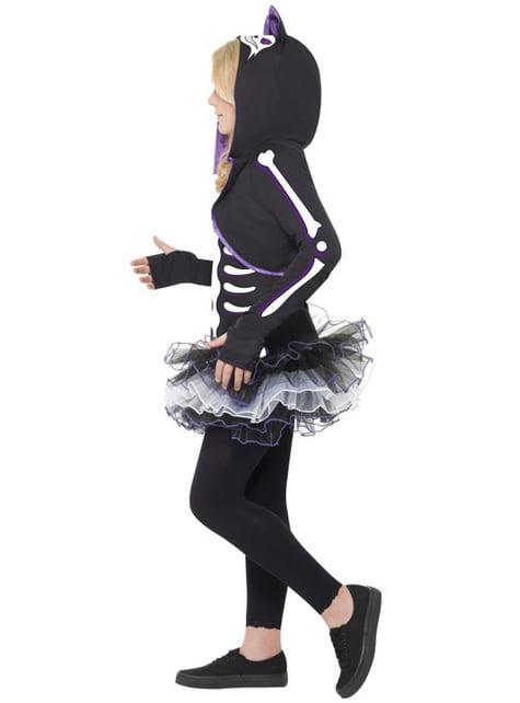 Disfraz de esqueleto de gatita para niña - original