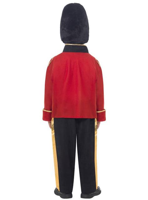 Disfraz de guardia con gorro alto para niño - infantil