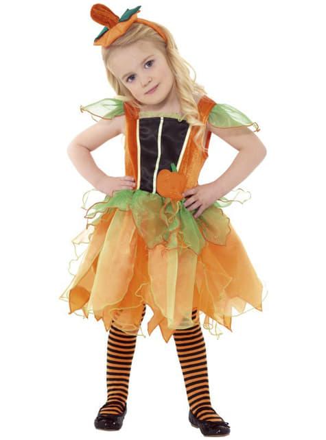 Kürbis Fee Kostüm für Mädchen