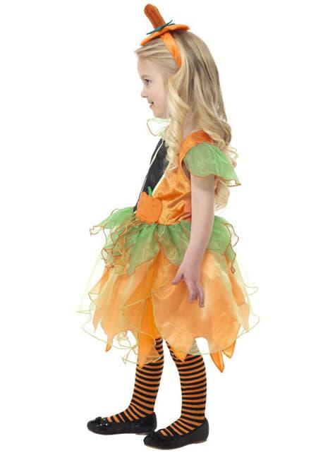 Strój dla dziewczynki dyniowa czarodziejka