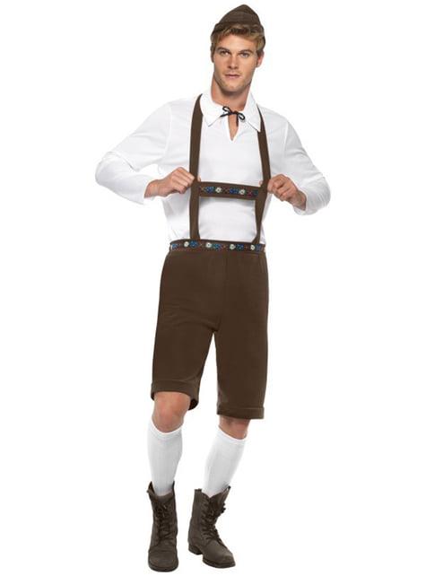 Lederhosen Kostüm für Herren Braun