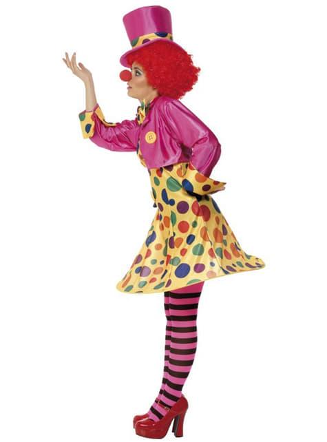 Костюм різнокольорового клоуна для дорослих