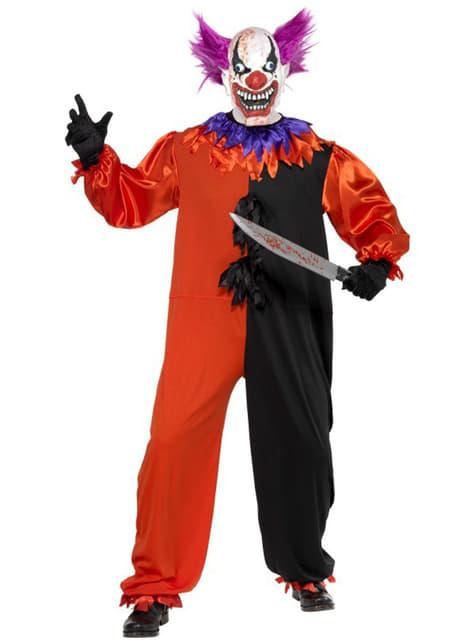 Kostým pre dospelých zlý strašidelný klaun