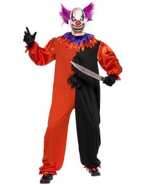 Cirkus Sinister Skrämmande clown Maskeraddräkt