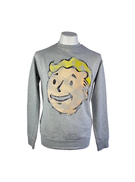 Fallout Vault boy sweatshirt for men in grey