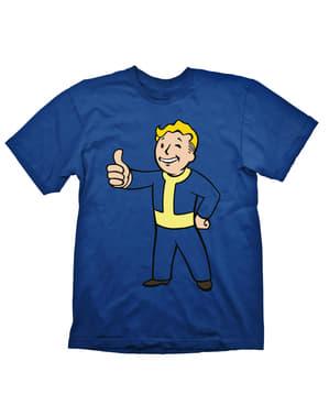 T-shirt Fallout Vault Boy bleu homme