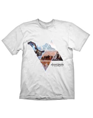 אופק אפס שחר T-Shirt עבור גברים בלבן