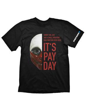 """オオカミ """"それは給料日です""""男性用のTシャツ - 給料日2"""