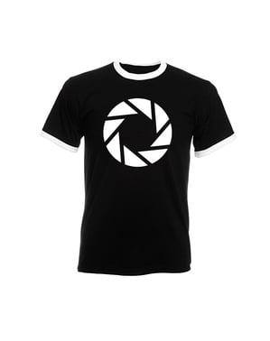 男性用アパチャーサイエンスTシャツ - ポータル2