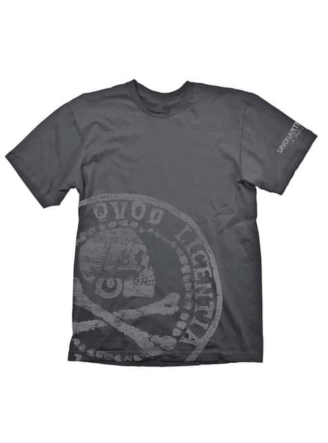 Camiseta de Uncharted 4: El desenlace del ladrón moneda pirata para hombre