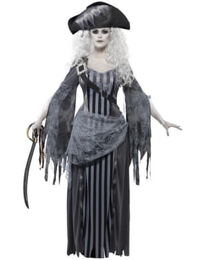 Disfarce de pirata fantasma para mulher