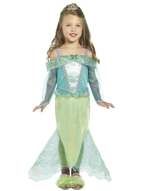 Disfraz de princesa sirena para niña