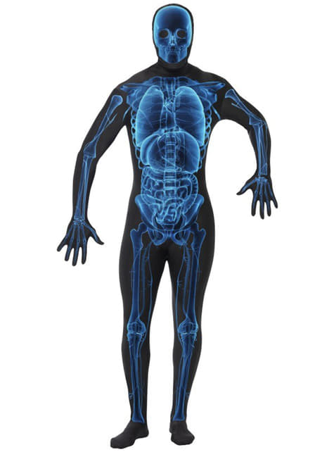 Falsk Hud X-Ray Kostyme Voksen