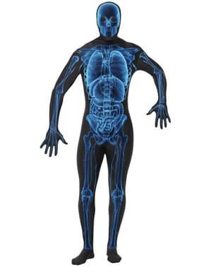 Disfraz de rayos-X de segunda piel