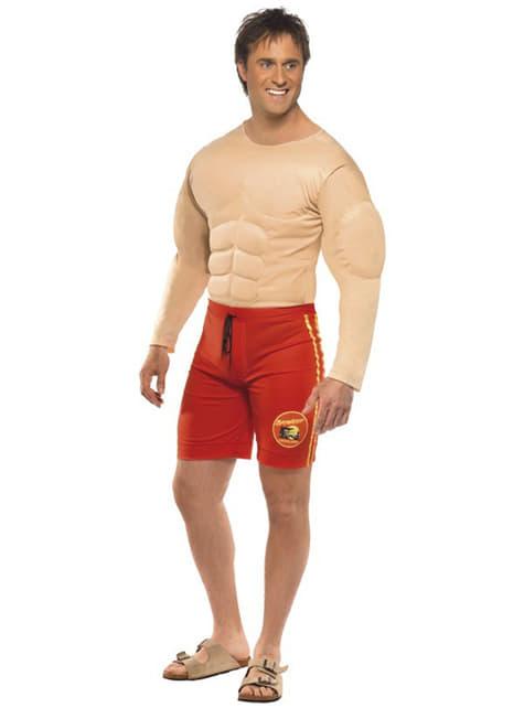 男性のための筋肉のライフガードコスチューム