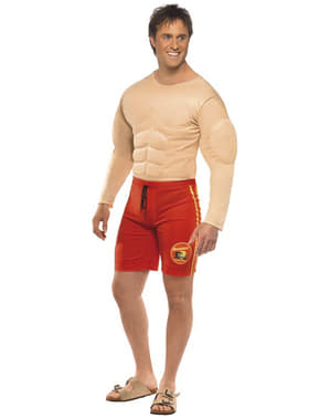 Gespierd badmeester kostuum voor mannen