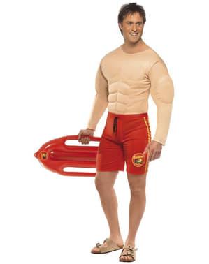 Disfarce salva-vidas musculado para homem