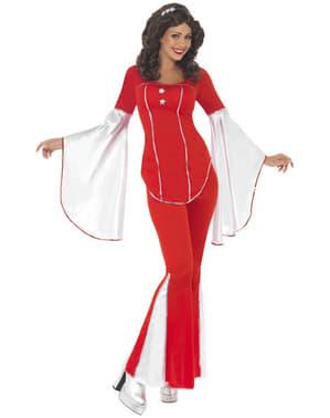 Costume Super Trouper rosso da donna