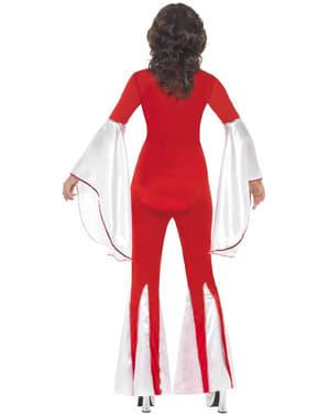 Rødt Super Trouper kostume til kvinder