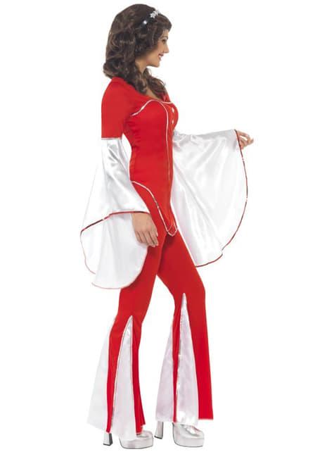 Rood Abba kostuum jaren 70