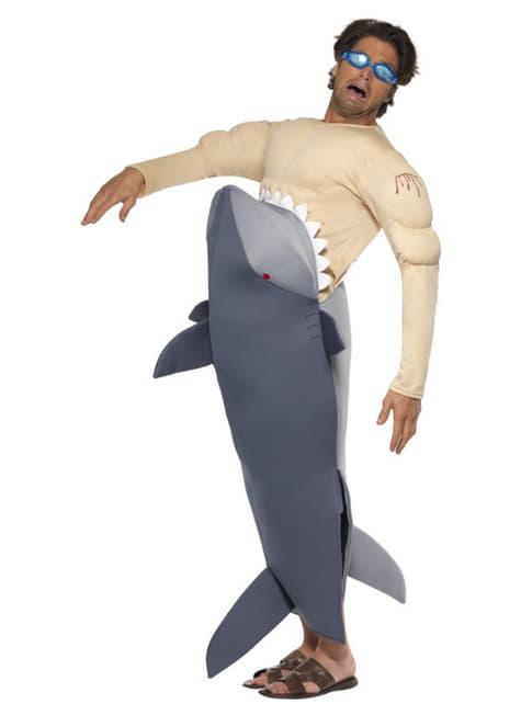 Disfraz de tiburón devorador de hombre