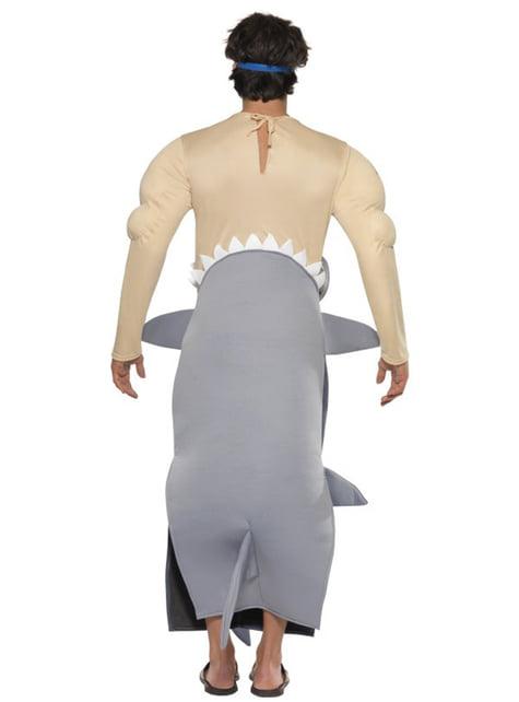 Disfraz de tiburón devorador de hombre - hombre