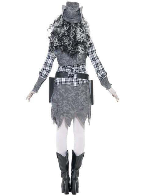Disfraz de vaquera fantasmal - mujer