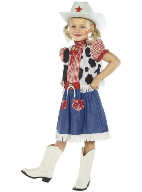Süßes Cow Girl Kostüm für Mädchen