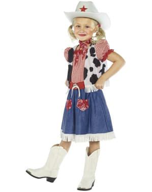 Costum de cowgirl dulce pentru fată