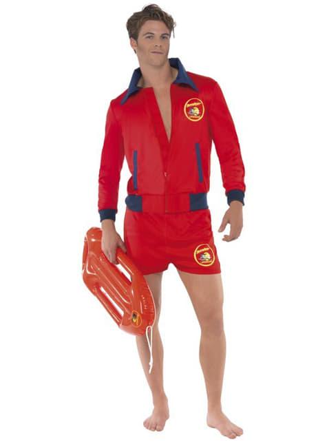 Rood badmeester kostuum voor mannen - Baywatch