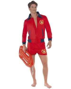 Rettungsschwimmer Kostüm rot für Herren - Baywatch - Die Rettungsschwimmer von Malibu
