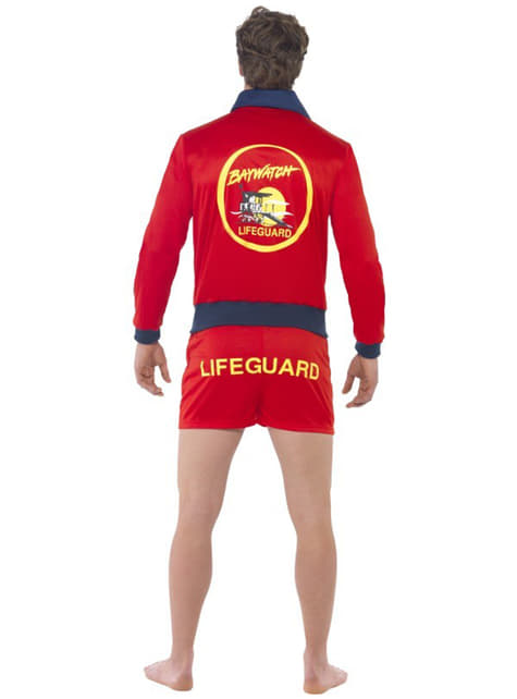 Red Lifeguard Costume For Men - Baywatch