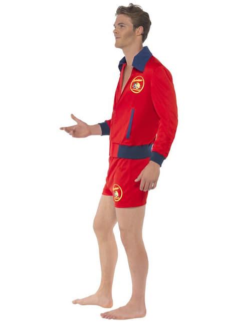 Červený kostým plavčíka pre mužov - Baywatch